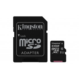 MEMORIA  SECURE DIGITAL MICRO SDXC  64GB KINGSTON CLASE10  SDCS64GB