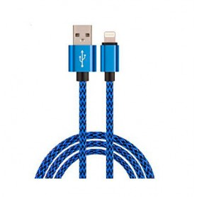CABLE LIGHTNING IPHONE CARGA DATOS A USB 2.0 AM 1M BIWOND METAL AZUL 51940