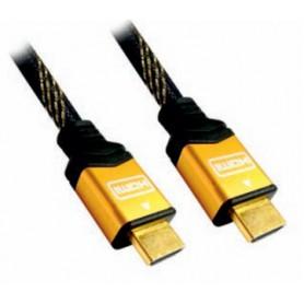CABLE HDMI V1.4 (ALTA VELOCIDAD  HEC) AM-AM ORO 5.0 M NANOCABLE 10.15.1505