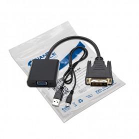 CONVERSOR DVI 241M-VGA HDB15H NANOCABLE NEGRO 10CM 10.16.2008-BK