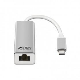 CONVERSOR USB-C ETHERNET GIGABIT 101001000MBPS 15CM PLATA 10.03.0402