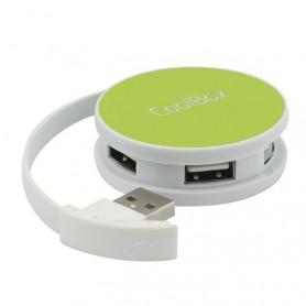 HUB USB COOLBOX  4 USB 2.0 ROUND VERDE COO-HU24SC-1UC