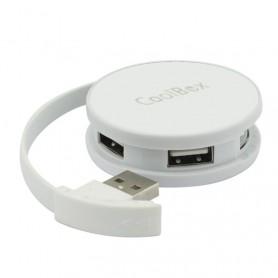 HUB USB COOLBOX  4 USB 2.0 ROUND BLANCO COO-HU24SC-2UC
