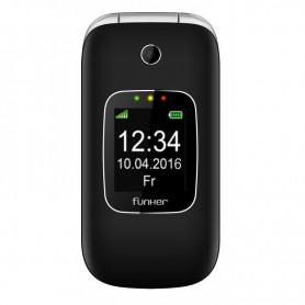 SMARTPHONE FUNKER C85 EASY COMFORT C85BL PLEGABLE 2G DOBLE PANTALLA BT NEGRO