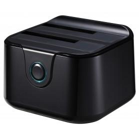 DOCK TOOQ  2XSATA 25P35P USB 3.0 CLONE OTB NEGRO TOOQ TQDS-802B