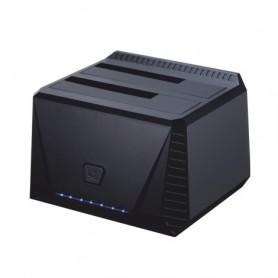 DOCK TOOQ  2XSATA 25P35P USB 3.0 CLONE OTB NEGRO TOOQ TQDS-902B