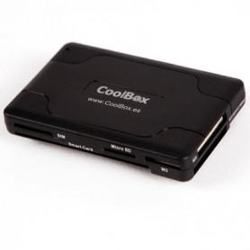 LECTOR TARJETA MEMORIA EXTERNO CRE-065 COOLBOX DNIE USB2.0  CABLE