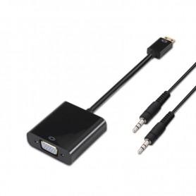 CONVERSOR MINI HDMI SVGAAUDIO CM-SVGAH3.5H NEG 10 CM1.0 M NAN 10.16.2003-BK