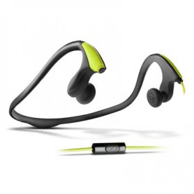 AURICULAR ENERGY RUNNING ONE NEON GREEN CON MICROFONO 397198