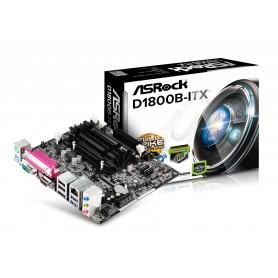 PLACA BASE ASROCK D1800B-ITX CPU INTEL J1800 SDRR3 USB3 HDMI SATA2 M-ITX