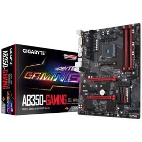 PLACA BASE AMD SAM4 GIGABYTE AB350 GAMING DDR4 PCIE SATA3 PCI RAID HDMI DVI ATX