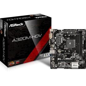 PLACA BASE AMD SAM4 ASROCK A320M-HDV DDR4 PCIE SATA3 PCI HDMI DVI M-ATX