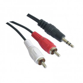 CABLE AUDIO ESTEREO 3.5M-2XRCAM 3.0 M NANOCABLE 10.24.0303