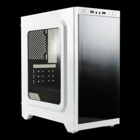CAJA  MICRO-ATX UNYKA GAMING ARMOR C21 CON VENTANA USB3 BLANCA