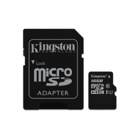 MEMORIA  SECURE DIGITAL MICRO SDHC  16GB KINGSTON CLASE10 SDCS16GB