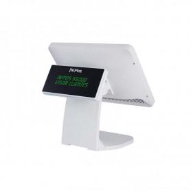 TPV COMPACTO AVPOS K5000W 15 TACTIL J19004GBSSD64GB WHITE VISOR ALUMINIO CAPAC.