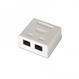 ROSETA DE SUPERFICIE PARA RJ45 CAT.5E UTP 2 TOMAS BLANCO NANOCABLE 10.21.1002