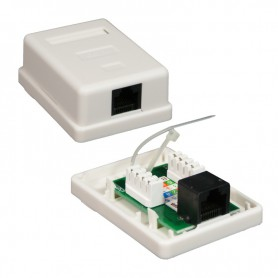ROSETA DE SUPERFICIE PARA RJ45 CAT.6 UTP 1 TOMA BLANCO NANOCABLE 10.21.1501