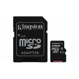 MEMORIA  SECURE DIGITAL MICRO SDXC 128GB KINGSTON CLASE10  SDCS128GBUC