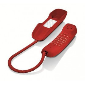 TELEFONO SOBREMESA GIGASET FIJO DA210 ROJO