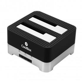 DOCK COOLBOX DOBLE BAHIA DUPLICADOR HDD 3.5 Y 2.5 SATA  USB 3.0 COO-DUPLICAT2