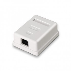 ROSETA DE SUPERFICIE PARA RJ45 CAT.5E FTP 1 TOMA BLANCONANOCABLE 10.21.1101