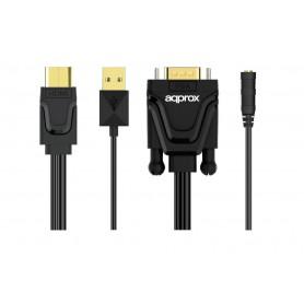 ADAPTADOR HDMI A VGA CON SALIDA DE AUDIO APPROX APPC22