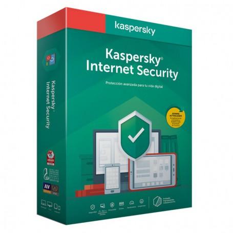 SOFTWARE ANTIVIRUS KASPERSKY 2020 INTERNET SECURITY MULTIDEVICE 3 LICENCIAS