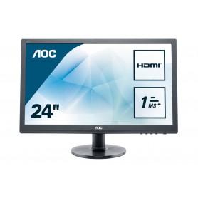 MONITOR 24 LED AOC E2460SH 1920X1080 FULL HD (1080P) VGA HDMI DVI-D MM NEGRO