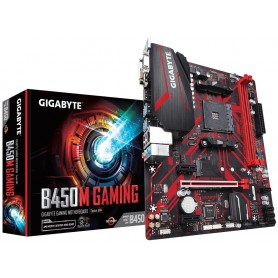 PLACA BASE AMD SAM4 GIGABYTE B450M GAMING 2DDR4 PCIE M2 4SATA3.1 DVI-D RGB HDMI