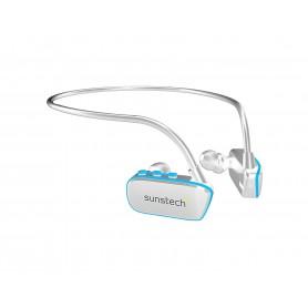 AURICULAR REPRODUCTOR  SUNSTECH MP3 ARGOS 8GB WATERPROOF WHITE-BLUE ARGOS8GBWTBL