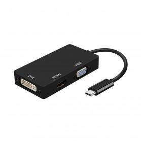 CONVERSOR USB-C MACHO A DVIH_ HDMI 4K 30HZH_VGAH 15CM  AISENS  A109-0343