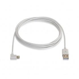 CABLE LIGHTNING IPHONE ACODADO A USB2.0 AM 2M NANOCABLE 10.10.0502-W