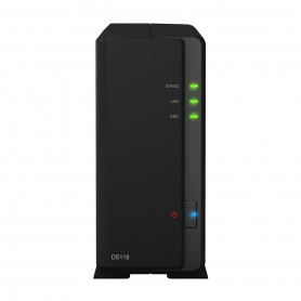 UNIDAD NAS SYNOLOGY DISK STATION DS118 1HD3.5 SATA6GBS RAM1GB GIGABIT ISCSI