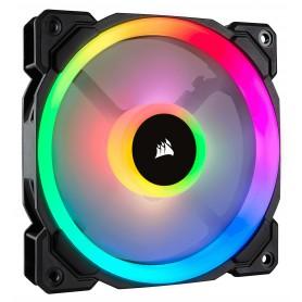 VENTILADOR CAJA ADICIONAL 12X12 CORSAIR LL120 RGB NEGRO