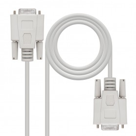 CABLE SERIE NULL MODEM DB9H-DB9H 1.8 M NANOCABLE 10.14.0602