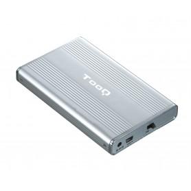 CARCASA DISCO DURO TOOQ 25P 95 MM IDE-SATA USB 2.0 PLATA TQE-2512