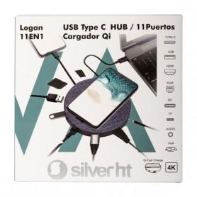 ADAPTADOR TYPE-C LT-U39 HUB 11 EN 1  CARGADOR QI SILVERHT 17127