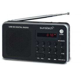 RADIO SUNSTECH RPDS32SL AMFM PORTATIL ALTAVOZ 1.4W SILVER