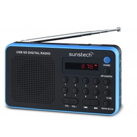 RADIO SUNSTECH RPDS32BL AMFM PORTATIL ALTAVOZ 1.4W BLUE