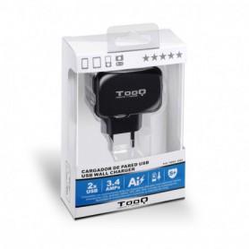 CARGADOR  USB TOOQ PARED 2XUSB 3.4 A(TOTAL) AI-TECH NEGRO TQWC-1S02