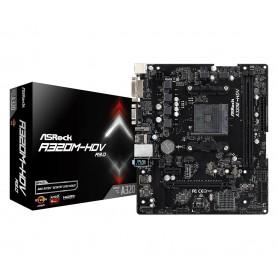 PLACA BASE AMD SAM4 ASROCK A320M-HDV R3.0 2DDR4 PCIE 4SATA3 2PCI HDMI DVI MATX