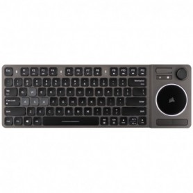 TECLADO CORSAIR WIRELESS K83 COMPACT MULTIMEDIA TOUCHPAD JOYSTICK