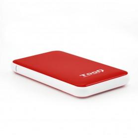 CARCASA DISCO DURO 2.5 TOOQ SATAIII USB3.1 GEN1 SSD TOOQ ROJO TQE-2528R