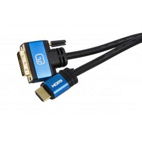 CABLE DVI A HDMI V1.4 DVI241M-HDMI AM 1.5M SILVER HT 93015