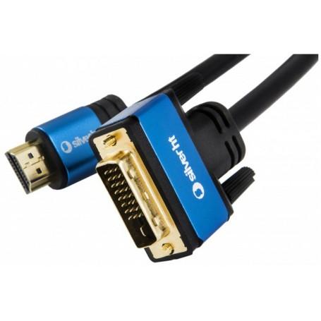 CABLE DVI A HDMI V1.4 DVI241M-HDMI AM 3M SILVER HT 93016