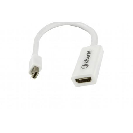 CABLE HDMI (M) A MINIDISPLAY PORT 1.2A - 4K (M) SILVER HT 15CM (PARA APPLE)93017