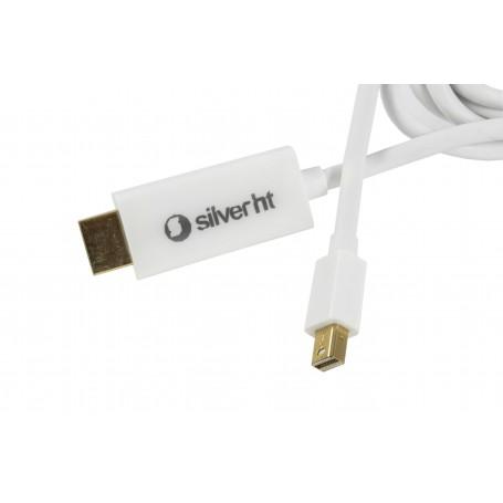 CABLE HDMI (M) A MINIDISPLAY PORT 1.2A - 4K (M) SILVER HT 1.8M (PARA APPLE)93018