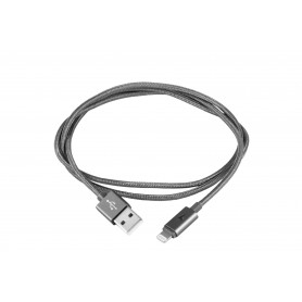 CABLE LIGHTNING IPHONE A USB 2.0 1M SILVER HT PLATA 93637