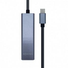 CONVERSOR USB 3.1 GEN1  USB-C ETHERNET GIGAB 3USB 3.0 15CM AISENS A109-0396